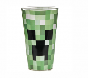 MINECRAFT SZKLANKA CREEPER 3D
