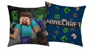 PODUSZKA MINECRAFT 40/40 CM STEVE PICKAXE CREEPER
